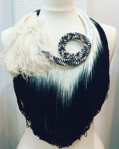 Orixa bijoux - Collier Eshu - Collier afropunk vintage, collier plumes autruche pour défilé gypsy vintage fashion mode